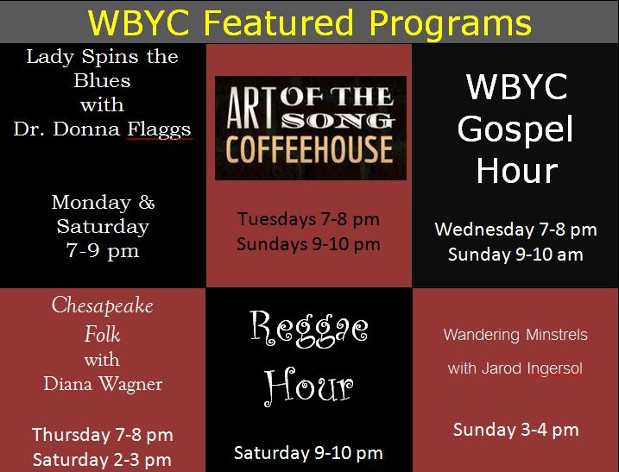WBYC Featured Programs Chart